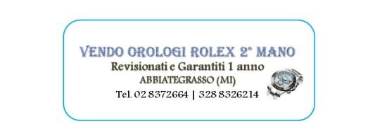 Vendo Orologi Rolex